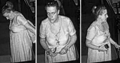 Georgia deputies release photos of church burglary suspect wearing cross