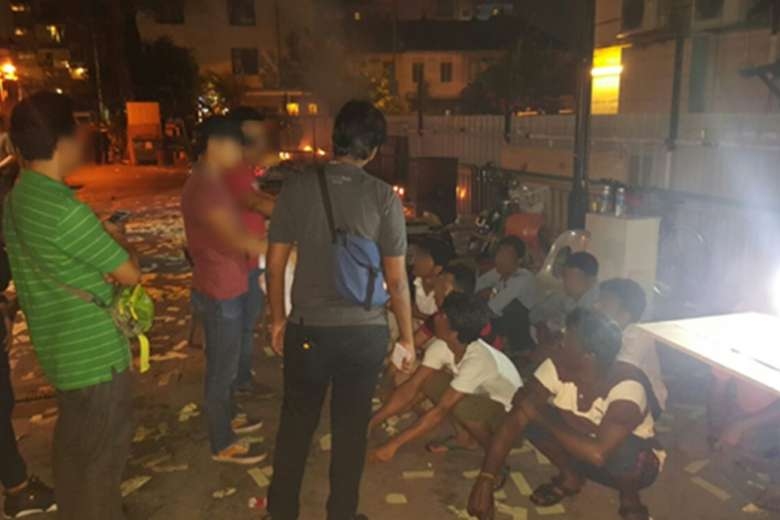 87 arrested after five-day raid in Geylang